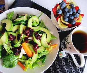 breakfast, fruit, and salad image