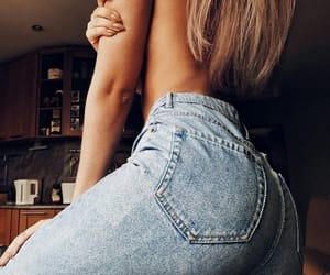 beautiful, girl, and jeans image