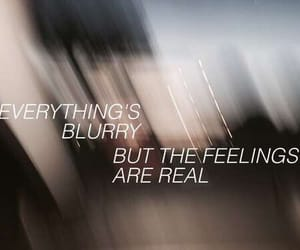 blurry, feelings, and quote image