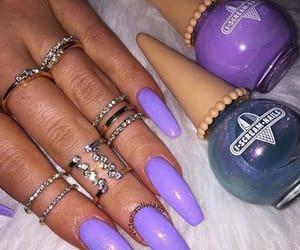 glitter, long nails, and nails image
