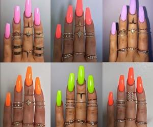 long nails, nails, and victoriaoliviaxo image