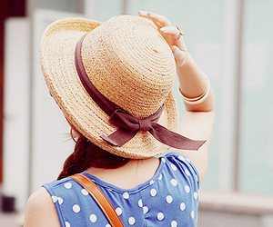 girl, hat, and kfashion image