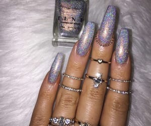 nails, glitter, and sparkles image