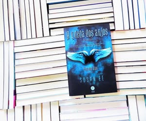 angel, anjos, and book image