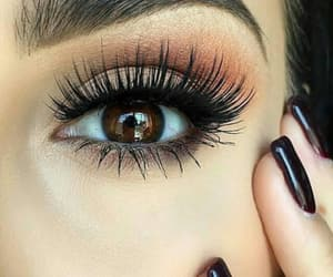 eye, lashes, and long image
