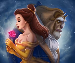 beauty and the beast, art, and beast image