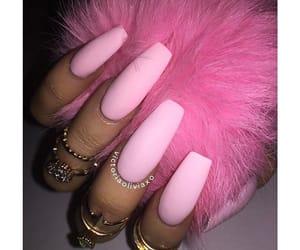 long nails, nails, and pink image