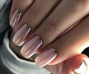 glitter, glossy, and nails image