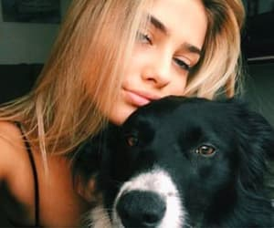 blonde, happy, and dogs image