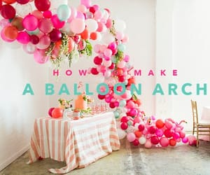 balloons, party decor, and diy image