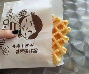 food, waffle, and japan image
