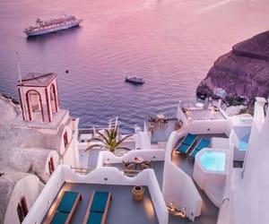Greece, lilac, and sea image