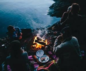 camp, music, and couple image