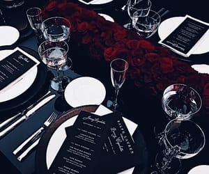 food, rose, and drink image