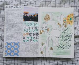art journal, artwork, and doodle image