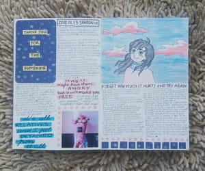 art journal, artwork, and doodle image