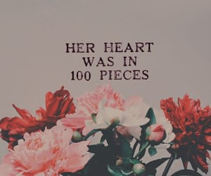 broken, flowers, and heart image
