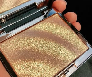 bright, makeup, and gold image