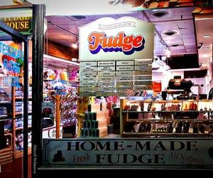 boardwalk, fudge, and storefront image