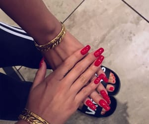 fashion, inspiration, and red nails image
