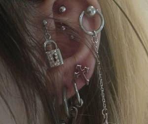 aesthetic, earrings, and dark image