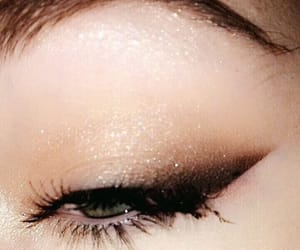 beauty, smokey eye, and eyebrow image