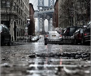 city, places, and rain image