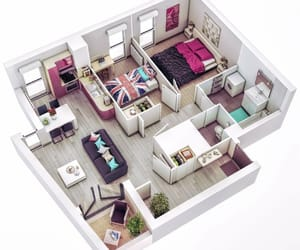 apartment, house, and plans image