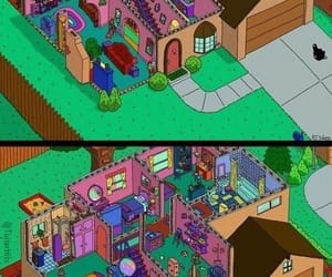house, plans, and simpson's image