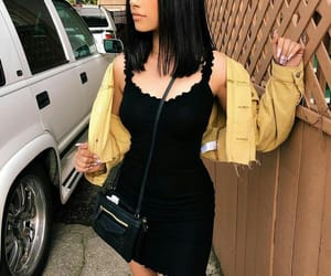 casual, style, and dark hair image