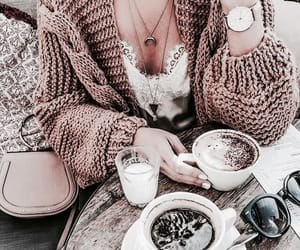 fashion, coffee, and drink image