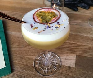 cocktail, drink, and passionfruit image