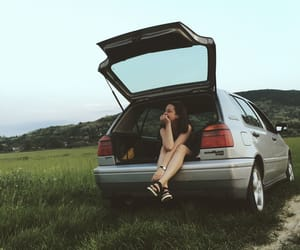 alternative, car, and girl image