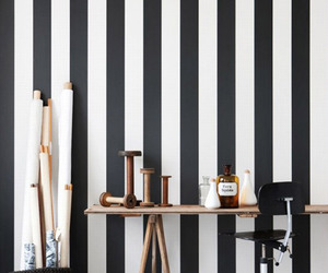 black, interior, and stripes image