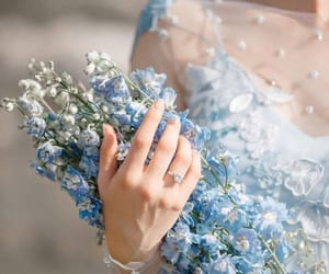 bouquet, fashion, and dress image