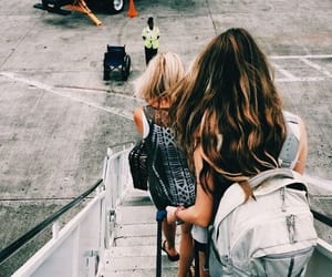 travel, girl, and airport image