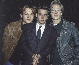 boy, brad pitt, and johnny depp image
