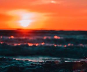 sun, beach, and ocean image