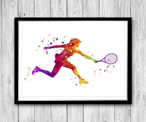 etsy, tennis, and girls room decor image