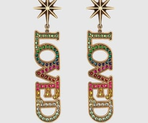 Alexander McQueen, crystal snow, and earrings image