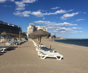 beach, spain, and travel image
