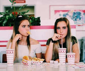 girls, friends, and food image