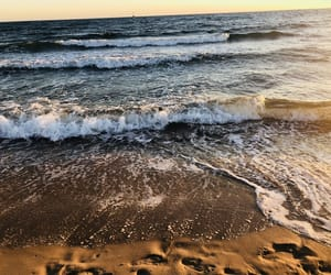 beach, peace, and sunset image