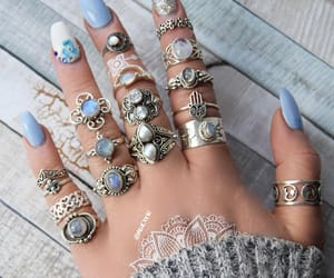bohemian, nails, and nailart image