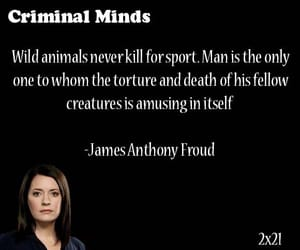 cbs, criminal minds, and quote image