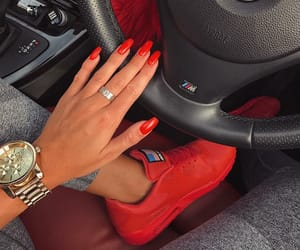 car, goals, and red image