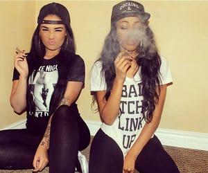 girl, smoke, and swag image