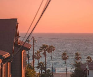 los angeles, ocean, and sunset image