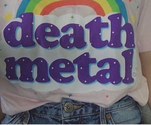 rainbow, grunge, and death metal image
