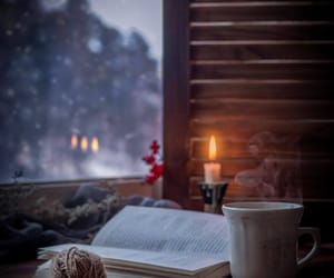 bibliophile, book, and candle image